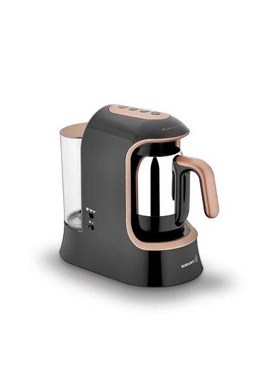 Korkmaz Kahvekolik Aqua Siyah/Rosagold Otomatik Kahve Makinesi Altın